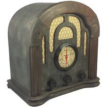 Rádio Antigo Imperador Preto - Artesanal - Vintage - Retrô