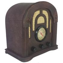 Rádio Antigo Imperador Mogno - Artesanal - Vintage - Retrô