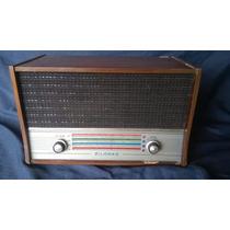 Rádio Antigo Bivolt Zilomag Funcionando De Madeira