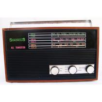 Radio Sonorous All Transistor 3 Faixas Am Força Antigo Jaj