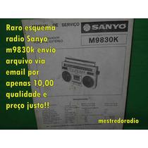 Esquema Sanyo M9830 M9830k Rm-9830 Em Pdf 10,00 Via Email