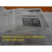 Esquema E Manual De Serviço Sanyo Rp7160 Rp-7160 Em Pdf