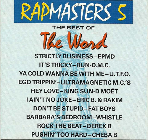 Rap Masters 5 The Best Of The Word Cd Importado
