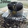 Corda Para Amarração Preta 200 M Trançada Poliéster Estática