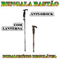 Bastão Bengala Alumínio Retrátil Caminhada Com Lanterna