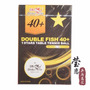 Bolinhas Double Fish + 40 - Tenis De Mesa - 6 Unid. Caixa