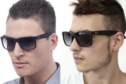 ray ban wayfarer sunglasses; ray ban justin vs oakley holbrook