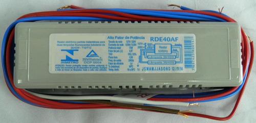Reator Eletrônico 1x40 W Alto Fator - Lampada Fluorescente