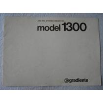 Receiver-gradiente Model 1200-1300 -manual Original-perfeito