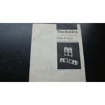 Technics Sb F40 Manual Original Das Caixas