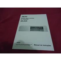 Manual Receiver Akai Aa-a35 - Cópia Encadernada