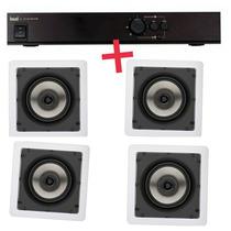 1 Amplificador Apl 150 + 4 Sq4 Loud - Do