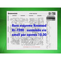 Raro Esquema Kenwood Kr-7200 Kr7200 Via Email 10,00
