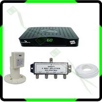 Kit Receptor Century Br2014 + Lnbf Multi + Divisor + Cabo