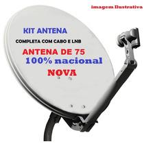 Antena Ku Parabólica 75 Melhor Desempenho Em Dia De Chuva