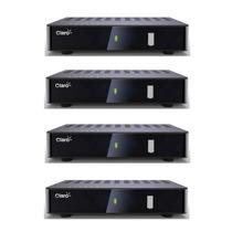 Caixa Com 04 Receptores Claro Tv Livre Digital Sem Mensalide