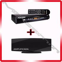 Kit Conversor Tv Digital Aquario + Antena Hd * Amplificada *