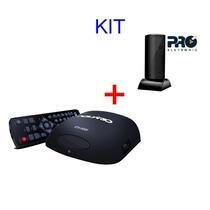 Kit Conversor Digital Tv Dtv 5000 Aquario + Antena Interna