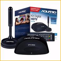 Kit Conversor Digital Hdtv Aquário Dtv-5100 + Antena Interna