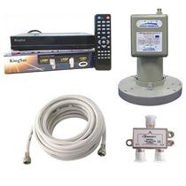 Kit Multiponto Receptor Elsys Petit +lnbf+divisor+cabo Coaxi