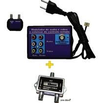 Extensor De Controle Remoto Modulado Vipcolor + Chave A + B
