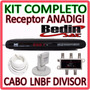 Kit Multiponto Com Receptor Anadigi + Lnbf + Cabo + Divisor