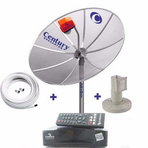 Antena Parabólica Century + Lnbf +cabo(frete Grátis Brasil)