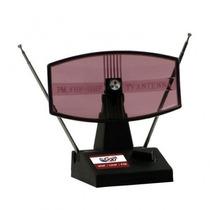 Antena Mini Parabólica Retangular 4em 1: Vhf; Uhf; Hdtv E Fm