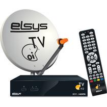 Oi Tv Livre Receptor + Antena Banda Ku+cabo 20mtrs