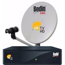 Kit Oi Tv Livre Hd Com Antena 60cm E Lnbf Mono (bedin)
