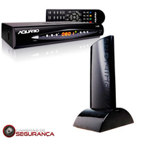 Kit Conversor Digital + Antena Interna Amplificada Hdtv Pr