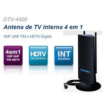 Antena Tv Interna Multirecepção Hdtv Dtv4500 Frete Brasil