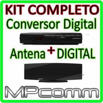 Kit Conversor Tv Digital Gravador ( H D ) + Antena Interna