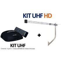 Kit Conversor Digital Aquário Dtv5000 + Antena Externa Hdtv