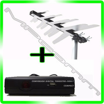 Kit Conversor Tv Digital Gravador ( H D ) + Antena Externa