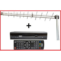 Kit Conversor Tv Digital Hdtv + Antena Uhf Externa Digital