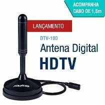 Antena Interna Tv Digital Hdtv Dtv 100 Aquário Original 100%