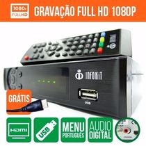 Conversor Digital P/ Tv C/ Cabo Hdmi Função Gravador Full Hd