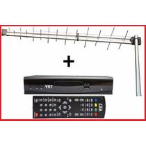 Kit Antena Uhf Log 28 Elementos + Conversor Digital Vii7 Hd