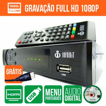 Conversor Tv Digital E Gravador Cabo Hdmi Full Hd Usb San