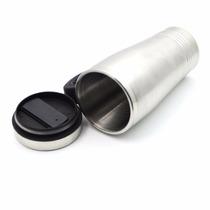 Caneca Térmica Inox 450ml C/ Tampa Isotérmica Mug Motoboy Df