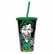 Copo Canudo E Tampa Coringa, Joker - Dc Comics