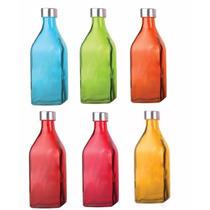 Kit 2 Garrafas De Vidro Scotch Color (6 Cores À Escolha!)