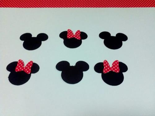 Recortes Mickey E Minnie Em Scrapbook - 60 Unidades - R$ 6,90 no
