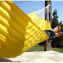 Rede De Dormir Balanço Descanso Casal Amarela 2 Frete Gratis