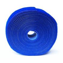 Abraçadeira Cabos Velcro Dupla Face Azul Rl 3 Metros Com Nf