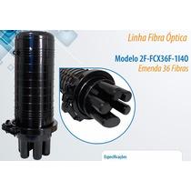 Caixa De Emenda De Fibra Óptica 36 Fibras+peças Marca 2flex