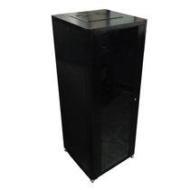 Rack Gabinete De Piso C/ Porta Vidro Preto 19 X 42u X 600mm