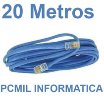 Cabo De Rede Cat5 Ethernet 20 Metros Internet Pronto P/ Usar