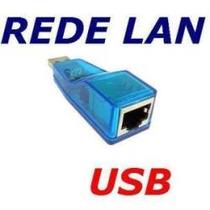 Placa De Rede Usb 10/100 Rj45 P/ Notebook & Pc Desktop